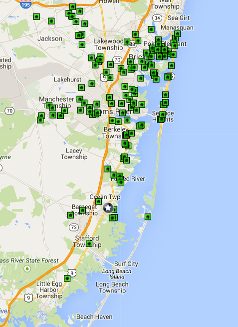 Ocean County Open House Map 3.29.2015